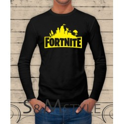 T-shirt Fortnite logo colorato