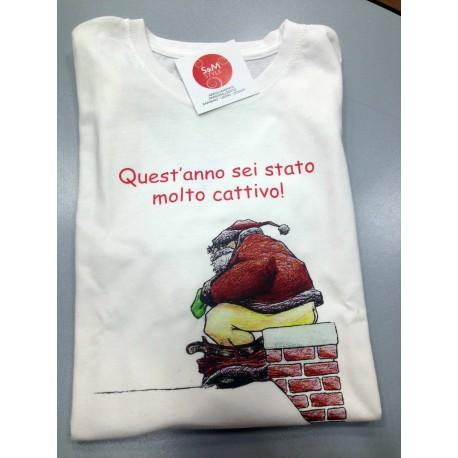 T.shirt Cattivo a Natale